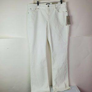NWT NYDJ BILLIE Mini Bootcut Jeans, Optic White 14